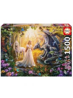 ΠΑΖΛ 1500 TEMAXIA DRAGON PRINCESS AND UNICORN 17696