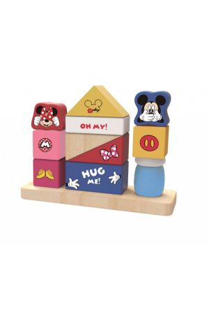 ΞΥΛΙΝΟΙ ΚΥΒΟΙ ΚΑΣΤΡΟ Tooky Toys Mickey & Minnie pcs (DTY009)