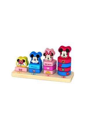 ΞΥΛΙΝΟΙ ΠΥΡΓΟΙ ΣΤΟΙΒΑΞΗΣ MICKEY & MINNIE Tooky Toys pcs (DTY010)