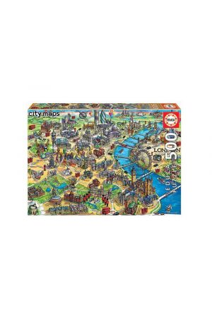 ΠΑΖΛ 500 TEMAXIA LONDON MAP 18451