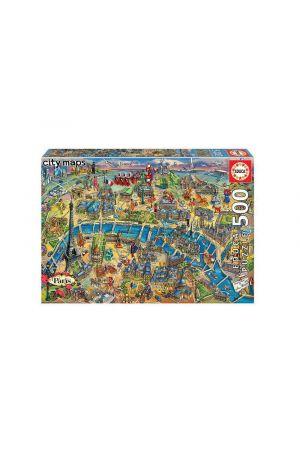 ΠΑΖΛ 500 TEMAXIA PARIS MAP 18452