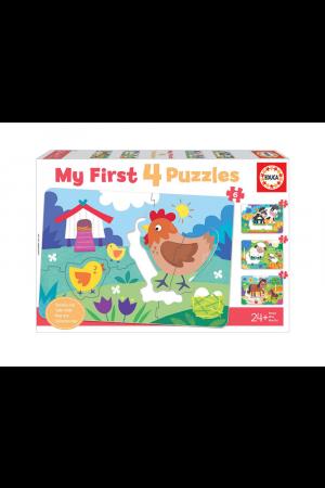ΠΑΖΛ MY FIRST 4 PUZZLES FARM MOTHERS & BABIES 26 TEM. (18899)