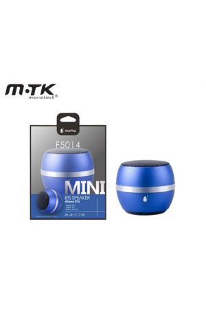MTK ONEPLUS ΗΧΕΙΟ BLUETOOTH BTS F5014 MINI 4W/300mAh ΜΠΛΕ 4.2x4.6cm