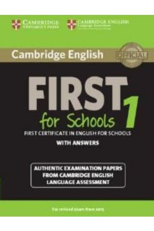 CAMBRIDGE ENGLISH FIRST FOR SCHOOLS 1 WITH ANSWERS N/E