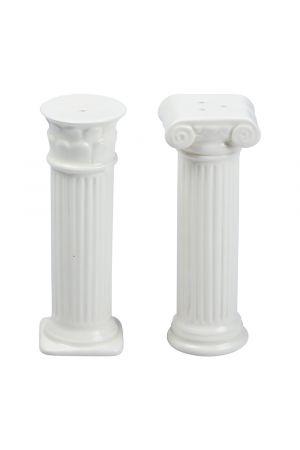 Hestia Salt & Pepper Mills Columns White (Αλατοπίπερο)