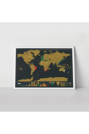 Scratch Map Deluxe Edition | personalised world map poster