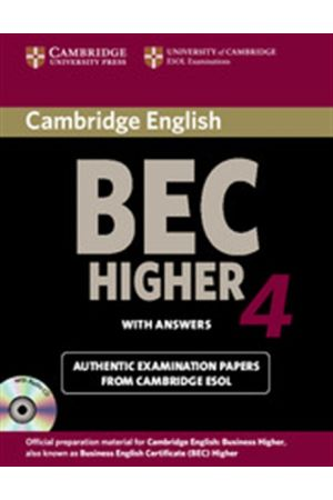 CAMBRIDGE BEC HIGHER 4 STUDENT'S BOOK (+AUDIO CD) WITH ANSWERS